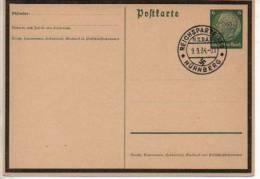 Aak458/ Deutsches Reich Ganzsache P 235a Mit SST Reichsparteitag Nürnberg Gestempelt/ Used - Germany