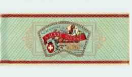 ETIQUETTE  Fruits  SALADE SUISSE  Exposition 1894   Format 370 X 150 - Fruits & Vegetables