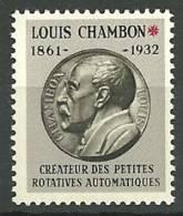 ESSAI DE TIMBRE MACHINES CHAMBON  Neuf Luxe  MC 06 - Proofs