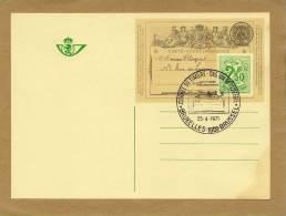 Carte Entier Postal Stationary Ganzsache Card Postcard Belgique Bruxelles Journée Du Timbre Dag Van De Postzegel 1971 - Stamped Stationery