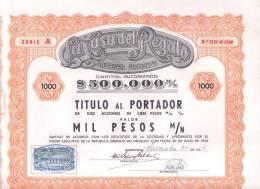 LA CASA DEL REGALO SOCIEDAD ANONIMA TITULO  AÑO 1956 MONTEVIDEO URUGUAY CON ESTAMPILLA FISCAL RARE - Actions & Titres