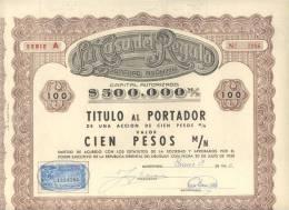 LA CASA DEL REGALO SOCIEDAD ANONIMA TITULO  AÑO 1950 MONTEVIDEO URUGUAY CON ESTAMPILLA FISCAL RARE - Actions & Titres
