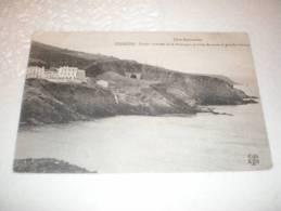 CPA De Cerbère - Côte Vermeille - Pointe Extrême De La Palanque, Portion De Route Et Grandes Falaises - Cerbere