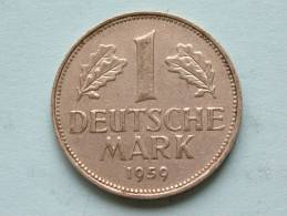 1959 G - 1 MARK / KM 110 ( Uncleaned Coin / For Grade, Please See Photo ) !! - 1 Mark