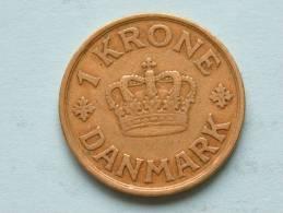 1925 HCN/GJ - 1 KRONE / KM 824.1 ( Uncleaned Coin / For Grade, Please See Photo ) !! - Danemark