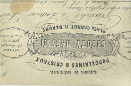 BEAUNE COTE DOR 21 MAGASIN PORCELANES CRISTAUX GUYOTY MASSON 11 PLACE CARNOT  1884 - France
