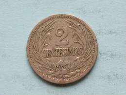 1909 A - 2 CENTESIMOS / KM 20 ( Uncleaned Coin / For Grade, Please See Photo ) !! - Uruguay