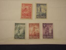 FILIPPINE - 1959 JAMBOREE 5 Valori - NUOVI(++)-TEMATICHE - Filippine