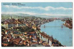 EUROPE HUNGARY BUDAPEST PANORAMA Nr. 21 OLD POSTCARD - Hungary