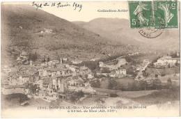 """Dépt 06 - SOSPEL - Vue Générale - Vallée De La Bévéra à 43 Kil. De Nice (Alt. 358 M) - """"Collection Artistique"""" - Sospel"""