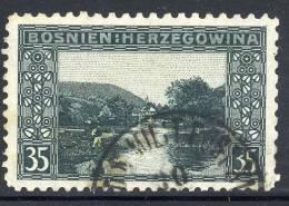 BOSNIA & HERZEGOVINA 1906 35h Perforated 9½ Used.  Michel 38C, SG 195B - Bosnien-Herzegowina