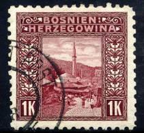 BOSNIA & HERZEGOVINA 1906 1 Kr. Perforated 9½ Used  Michel 42C, SG 199B - Bosnia And Herzegovina