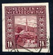 BOSNIA & HERZEGOVINA 1906 1 Kr. Imperforate Used  Michel 42U, SG 199C - Bosnia And Herzegovina