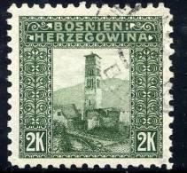 BOSNIA & HERZEGOVINA 1906 2 Kr. Perforated 9½ Used  Michel 43C, SG 200B - Bosnia And Herzegovina