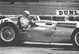 Louis Chiron  -  Ecurie France -  Talbot-Lago  -  Silverstone  -  1949  -  Real Photo Postcard - Sport Automobile