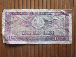 Billet De Banque De La Roumanie Romania—> 10 Zece  Lei Republica Socialista Romania Agriculture élevage - Rumania