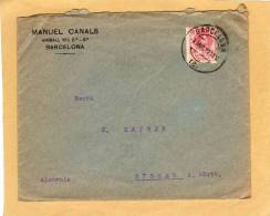 Enveloppe Brief Cover Barcelona To Alemania Süssen Germany - Espagne