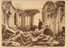 planche du service photographique arm�e belge guerre 14-18 WW1 ruine de l'eglise de niewcapelle mai 1915