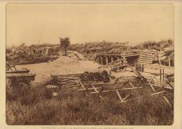 planche du service photographique arm�e belge guerre 14-18 WW1 tranch�e � hauteur borne nieuwcappelle