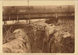 planche du service photographique arm�e belge guerre 14-18 WW1 militaire abri poste telephonique caeskerke train