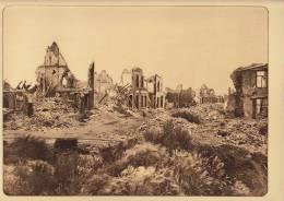 planche du service photographique arm�e belge guerre 14-18 WW1 ruine place de la gare � nieuport