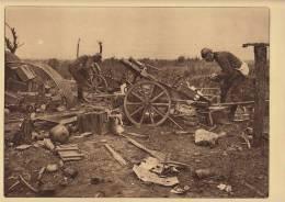planche du service photographique arm�e belge guerre 14-18 WW1 militaire canon artillerie abandonn�e par les allemands