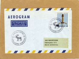 Enveloppe Brief Cover Par Avion Aerogram Flygpost Par Avion Gällivare To Sundsvall - Suède