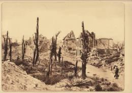 planche du service photographique arm�e belge guerre 14-18 WW1 la grand place ruine nieuport