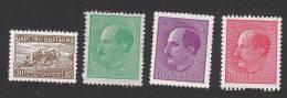 Bulgaria, Scott # 366, 368, 371, 375, Mint Hinged, Plowing, Tsar Boris III, Issued 1940 - 1909-45 Kingdom