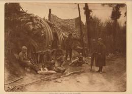 planche du service photographique arm�e belge guerre 14-18 WW1 militaire poste de garde � oude barrell abri