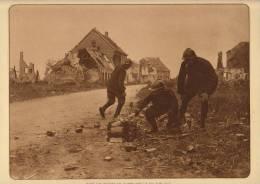 Planche Du Service Photographique Armée Belge Guerre 14-18 WW1 Militaire Ruine Ramscapelle - Libri, Riviste & Cataloghi