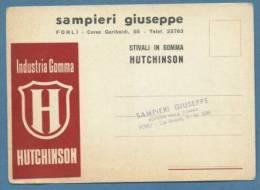 CARTOLINA PUBBLICITARIA INDUSTRIA DELLA GOMMA HUTCHINSON - STIVALI IN GOMMA - SAMPIERI FORLI' - Cartoline