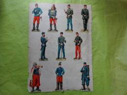 10 Chromo Militaires-zouave--epee-fusil Etc.... - Non Classés