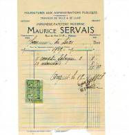 Namur - 1927 - Maurice Servais - Imprimerie-papeterie Moderne - Fournitures Aux - Printing & Stationeries