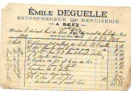 Beez (Namur) - Emile Deguelle - Entrepreneur De Menuiserie - Ohne Zuordnung