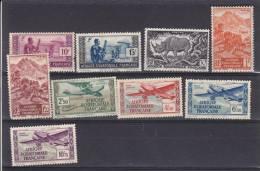 AEF - Collection De 9 TP Dif Poste Et Avion   - Tous N* Ou (N) - A.E.F. (1936-1958)