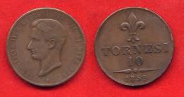 ITALIE - ITALIA - ITALY -  NAPLES - NAPOLI - DUE SICILIE - FRANCOIS II - FRANCESCO II -10 TORNESI 1859 - SPLENDIDE - Regional Coins