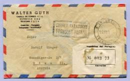 Air Mail Registered Letter PARAGUAY ASUNCION Via LISBOA To VIENNA WIEN FRANQUEO PAGADO1964 (850) - Paraguay