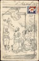 PK Illustr. Willete 1915 - Oorlog 14-18  Soldaat Vrouwen En Kinderen - Wilette