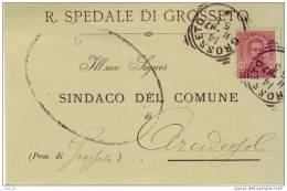 Lotto Annullo Tondo Riquadrato Grosseto X Arcidosso Umberto C. 10 Storia Postale Regno - 1878-00 Umberto I