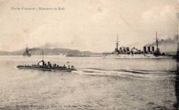 Marine Française, Manoeuvre En Rade, Sous Marin - Sous-marins