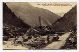 K21 - Dauphiné - Route De Grenoble Au Glandon - Le Pont De GRANDMAISON (vieille Automobile ) - France