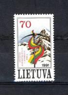 ZLin416 - Lituanie - 1991 - N° 416 (YT) - Neuf** - Conquête De L' Everest Par Des Alpinistes Lituaniens - Lithuania