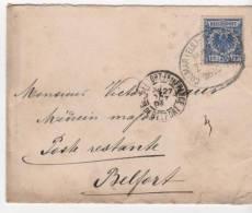 Envellope Colmar Pour Belford Tampon Colmar Bahnhof Zug 26/10/98 Timbre Reichpost Poste Restante - Marcofilia (sobres)