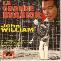 45T. John WILLIAM. LA GRANDE EVASION (Steve Mac Queen)  + 3. - Vinyles