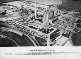BLENOD LES PONT A MOUSSON 1964  LA CENTRALE THERMIQUE EDF INDUSTRIE   PHOTO 19X 30 CM - Places