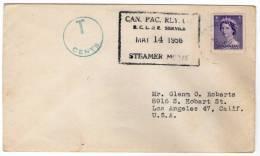 "CANADA:  Enveloppe Par ""STEAMER"" De 1956"