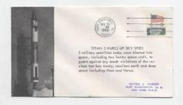 TITAN 3 - Lancement Le 23 Mai 1969 De 5 Satellites -  Cachet De CAP CANAVERAL - FDC & Commémoratifs
