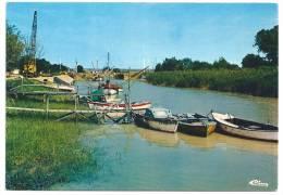 Cpsm: 33 SAINT CIERS SUR GIRONDE (ar. Blaye) Port Des Callonges (Bateaux, Grue) - Autres Communes