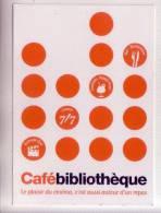 Cafébibibliothèque Publicité Cinéma Bar Restaurant  Carte Non écrite - Reclame